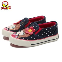 Princess Canvas Shoes NZ - Girls Canvas Shoes 2019 New Spring Children Flats Polka Dot Fashion Kids Sneakers Denim Girls Princess Shoes Casual Footwear Y19051303