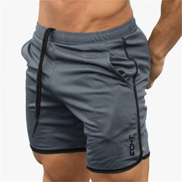mesh running shorts men NZ - 2019 Summer Running Shorts Men Mesh Sports Jogging Fitness Shorts Quick Dry Mens Gym Crossfit Sport gyms Short Pants men