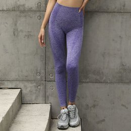 $enCountryForm.capitalKeyWord Australia - Women Purple Engery Seamless Leggings High Waist Yoga Pants Fitness Sport Leggings Tummy Control Super Scrunch