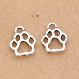 $enCountryForm.capitalKeyWord Australia - paw charm 20pcs Tibetan Silver Plated Bear Dog Paw Charms Pendants Jewelry Making Bracelet Diy Jewelry Findings 13x11mm
