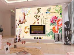 $enCountryForm.capitalKeyWord Australia - custom size 3d photo wallpaper mural living room color carving flower nine fish painting sofa TV backdrop wallpaper mural non-woven sticker