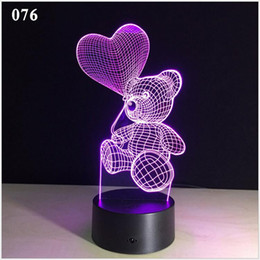$enCountryForm.capitalKeyWord Australia - Cartoon Love Heart Bear Shape Table lamp USB LED 7 Colors Changing Battery Desk Lamp 3D Lamp Novelty Night Light Kid Christmas Gift