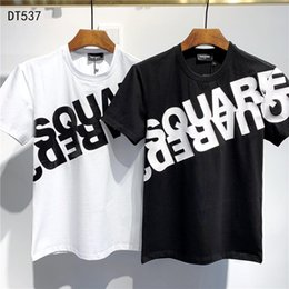 DSQUARED2 DSQ2  SS20 New Arrival Top Quality D2 Clothing Men'S T-Shirts Print Street dress Tees Short Sleeve M-3XL DT537 em Promoção