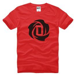 T Shirt Cotton Sport Fashion Australia - Fans Tops Men's Simple Solid ROSE Basketball T-Shirt Fashion Print Casual Outdoor Sport Cotton T-Shirt Comfortable Crew Neck Tops