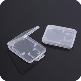 $enCountryForm.capitalKeyWord NZ - Small Transparent Plastic Protect Standard Memory Card Holder Storage Case Box for SD TF MMC SIM Memory Card SN1930