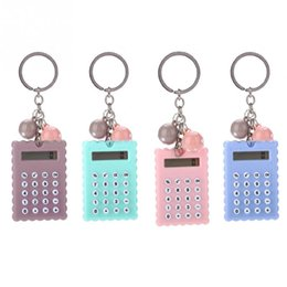 $enCountryForm.capitalKeyWord Australia - Mini Portable Calculator Fashion Creative Cute Cookies Style Key Chain Calculator Candy Color 8-bit Display Pocket Calculator