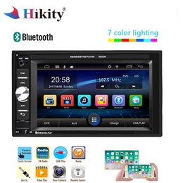 rear mirror bluetooth 2019 - Hikity 2 Din Car Radio 6.2 inch Auto audio Player Touch Screen MP5 Player Autoradio Bluetooth Rear View Camera DVR Mirro