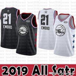 1e55138e9 2019 New New Philadelphia Jersey 76ers Joel 21 Embiid Ben 25 Simmons Basketball  Jerseys Black White KIA Logos