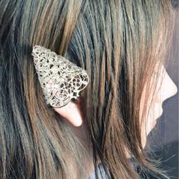 Elf Ears Earrings online shopping - Jewelry Fairy Tail Elf Pixie Filigree Cut Out Flower Angel Brinco Ear Clips Tip Cuff Earring Wedding Women Men Orecchini
