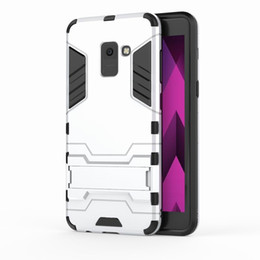 Suits Case Australia - Suit for Samsung A8 2018 case Hybrid Armor TPU + PC Case with Kickstand Holder Cover