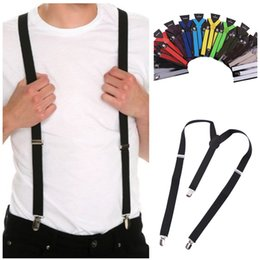 $enCountryForm.capitalKeyWord Australia - Men Women Adult Suspenders Unisex Jeans Pants Trouser with Clip-on Braces Elastic Suspenders Accessories