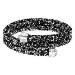 Circle Star Ring Australia - Swarovski new crystal wild magic color fashion personality simple star dust spiral double ring bracelet dark 5237757