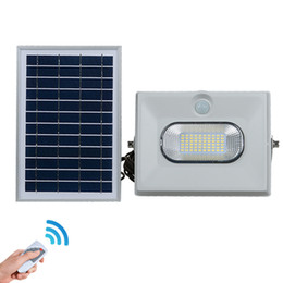Wholesale Solar Powered Floodlights Canada - Solar Powered Flood Lights 50W 100W 150W Outdoor Garden Lawn Landscape Lamps Waterproof Security Wall Lamps Floodlight +Remote Control