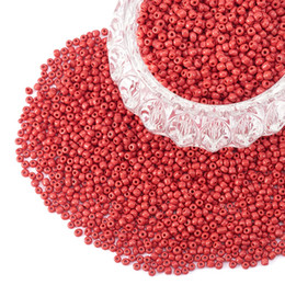 6/0 стеклянные бусины круглый пони Диаметр шарика 4 мм около 4500 шт. для ювелирных изделий свободные шарики DIY ремесло Красный непрозрачные цвета