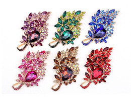 miao clothes clothing Australia - 2020Africa Hot Sale Brooch Stained Glass Large Glass Brooch Crystal Glass Brooch Corsage Women's Clothing Accessories