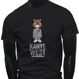 $enCountryForm.capitalKeyWord Australia - KANYE WEST 808S AND HEARTBREAK BEAR YEEZUS Mens Black T-Shirt Hipster O-Neck Cool Tops Hip Hop Short Sleeve