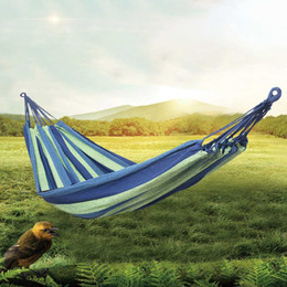 $enCountryForm.capitalKeyWord Australia - Portable Outdoor Camping Hammocks Ultralight Leisure Canvas Swing Chair 190* 80 Furniture Hanging Bed Hunting Sleeping Swing