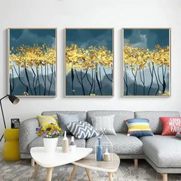 $enCountryForm.capitalKeyWord Australia - Nordic Style Art Golden Forest Decorative Painting Living Room Modern Simple Sofa Background Hotel Hanging Picture Core Mural