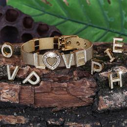 $enCountryForm.capitalKeyWord Australia - DIY Fashion Men Women's Gold Bracelet Custom Name Number Cubic Zircon HipHop Jewelry Bracelet For Gift