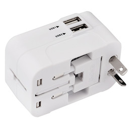 power adapter bag NZ - HHT202 International Power Travel Adapter Dual USB Port Drop Protection Bag