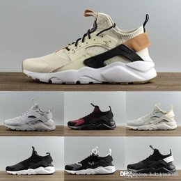 textile shoes Australia - 2019 New Huarache Run Ultra White Textile Premium Fashion Running Shoes High quality Men Women Sneakers Brand Trainers Jogging 36-45