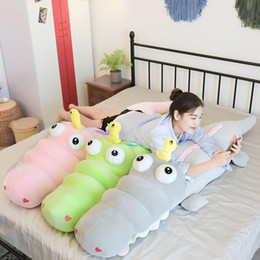 Crocodiles Alligator Toys Australia - Dorimytrader Hot Soft Cartoon Crocodile Plush Doll Giant Animal Alligator Pillow Toy Cushion for Girl Boy Gift 71inch 180cm DY50615