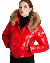 $enCountryForm.capitalKeyWord Australia - Winter Down Short Jacket Warm Women Hoodies with Raccoon Fur cold Coats ladies Brand Designer outdoor Alpin Outwear Parkas top A