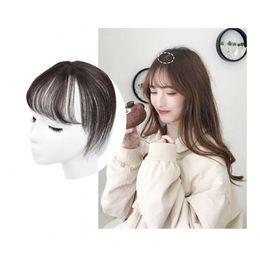 Sara 3D 100% umani naturali frangia capelli frangia 360 ° frontale dritto Stealth non traccia capelli Bang Clip in pezzo di capelli estensione parrucchino 8 * 20 cm