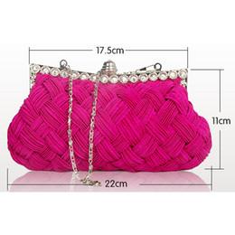 Ladies Handbag Fabric Australia - Hot Fashion Weave Plaid Women's Evening Party Handbag Clutch Single Shoulder Strap Hard Casual Female Lady Straw Flap Festival Gift 2019
