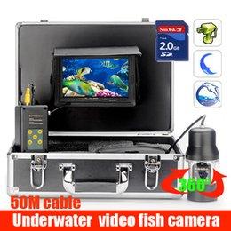 Wholesale 50m DVR 360 Rotation Degree rotation fish finder underwater video Camera Fishing Well Swing Pool Video Surveillance kit