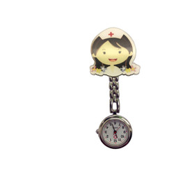 $enCountryForm.capitalKeyWord NZ - Newest Cute Lovely Cartoon stainless steel Pocket Quartz Fob Doctor Nurse Watch