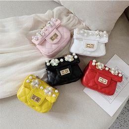 $enCountryForm.capitalKeyWord Australia - Baby Flower beads Bag Fashion Kids Shoulder Bag Little Girls Gifts Toddler Purse Handbag Children Mini Messenger Bag PU Leather LE327