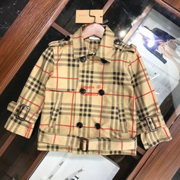 $enCountryForm.capitalKeyWord Australia - 2019 new Boy windbreaker kids designer clothing autumn casual suit collar short windbreaker cotton fabric double-breasted design coat