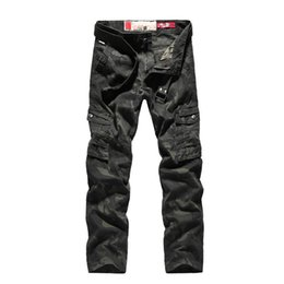 $enCountryForm.capitalKeyWord UK - 2018 New Men Cargo Big Pockets Decoration Mens Casual Trousers Male Autumn Army Camouflage Pants Plus Size Have Belt C19041303