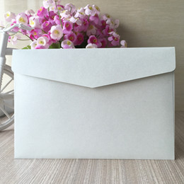 $enCountryForm.capitalKeyWord Australia - Simple Low-key Luxury White envelope Wedding Invitations Cards Envelope Apply To Grand Events Birthday Party Engagements