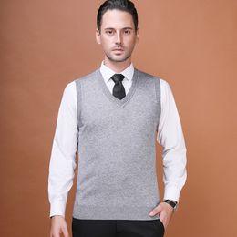 $enCountryForm.capitalKeyWord Australia - Asian Size Men's Wool Sweater Pullover Sleeveless Basic Knit Vest Tank Stylish Fashion Casual V Neck 2017AC-11