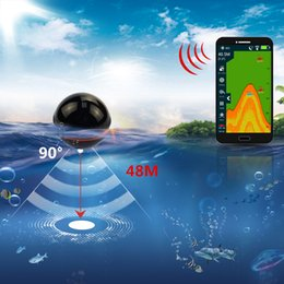 Sea Alarm Australia - Erchang Smart Portable Fish Finder Depth Sonar Sounder Fishfinder for Lake Sea Fishing Alarm Depth for IOS Iphone Android