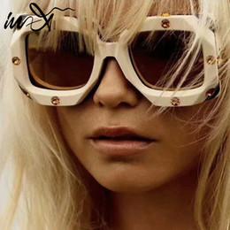 In-X 2019 Gafas de sol cuadradas extragrandes mujer Diseñador de la marca Gafas de sol Gafas de lujo para mujer Sombras Gafas de sol UV400 Marco grande