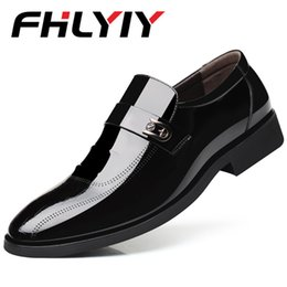 Pointy black dress shoes men online shopping - Spring Autumn Men Formal Wedding Shoes Luxury Men Business Dress Shoes Loafers Pointy Chaussures Hommes
