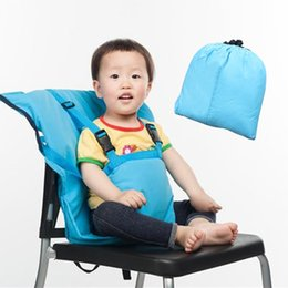 Wholesale Baby Bag Portable Infant Feeding Seat Safety Belt Booster Seats Foldable Washable Dining Lunch Feeding Harness High Chair Baby Bag Chair