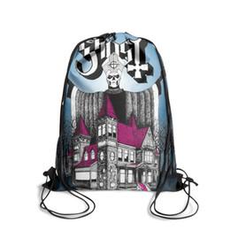 Drawstring C Australia - Drawstring Sports Backpack Ghost B C 221cute daily Yoga Travel Fabric Backpack