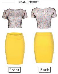 $enCountryForm.capitalKeyWord NZ - 2019 Hot Colorful Polka Dots Suit-dress Super Sexy Transparent Wear Women Summer Bust Skirt 3XL Free Shipping DHL