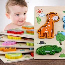 $enCountryForm.capitalKeyWord NZ - Baby Puzzle 3D Wooden Toys For Children Cartoon Animal Fruit Matching Board Learning Education Jigsaw Puzzle Games Popular Toys