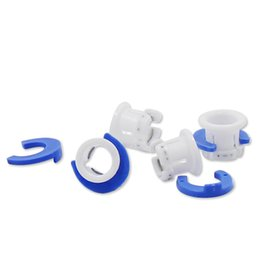$enCountryForm.capitalKeyWord NZ - 50set White Bowden Tube Clamp Blue Pipe Horse Clip Fixed 6mm 3D Printers Parts Shoe Coupling Collet Part Plastic Accessories 2