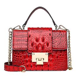 $enCountryForm.capitalKeyWord Australia - Luxury Ladies Party Handbags Fashion Women Vintage Alligator Leather Crossbody Bags Ladies Buckle Messenger Bags Handle Bag