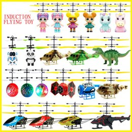 $enCountryForm.capitalKeyWord Australia - Hot sales induction flying toy flying fairy suspended luminous crystal ball iron man helicopter induction plane as children's toys