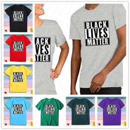 Wholesale designing tshirts for sale – custom Unisex BLACK LIVES MATTER T shirt S XL Solid Color Letters Print Summer Designs Tshirts Trend Short SLeeve Tee fashion Sport Top ClothD6513