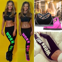 $enCountryForm.capitalKeyWord NZ - Womens Summer Ultra Thin Letter Work Out Printed Waist Leggings Tights Yoga Fitness Pants Sports Bra Gym Leggings