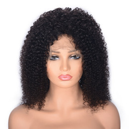 $enCountryForm.capitalKeyWord UK - Kinky Curly Virgin Hair Wigs Glueless Malaysian Human Hair Lace Front Wig with Baby Hair for Women Ping