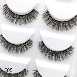 Handmade False Eyelashes Natural Long NZ - 28 models of the E series 5pairs set False EyeLashes 5 Pairs 3D Natural Long Fake Eyelashes Handmade Makeup Tools Accessories E05